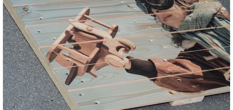 Afdruk op pallethout